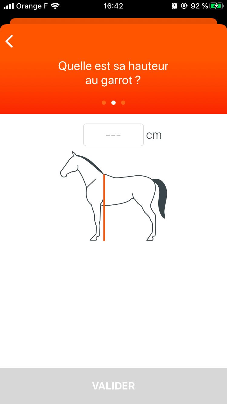 estimation poids du cheval par la hauteur au garrot