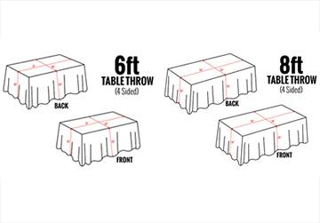 Tablecloths Aka Table Throws 4over4, What Size Linen Do You Need For A 8 Foot Table
