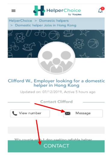 message employer
