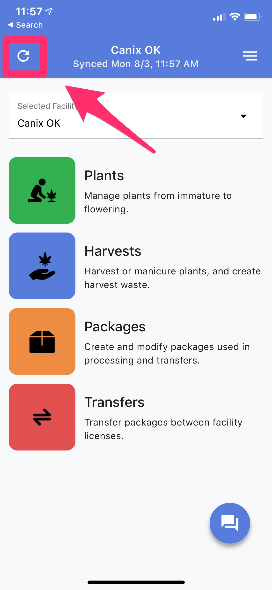 Refresh Metrc Data Mobile Application
