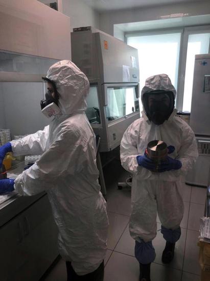 Фото из новосибирской лаборатории ИНВИТРО