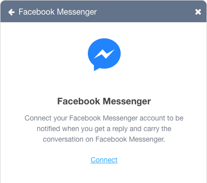 ChatShipper Webwidget connect to Facebook Messenger