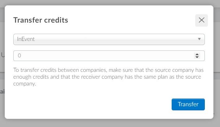 Transfering credits
