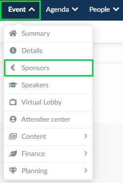Sponsors menu image