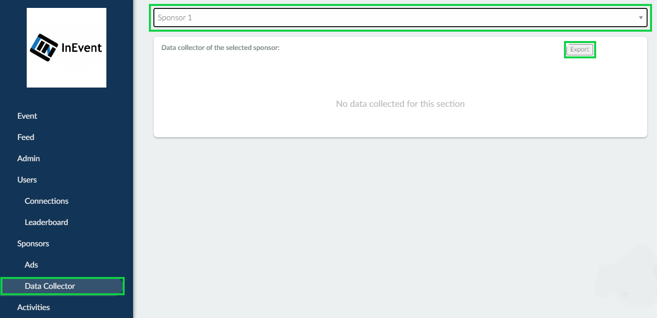Export data collector report