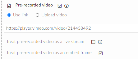 InEvent details - treat video as iFrame