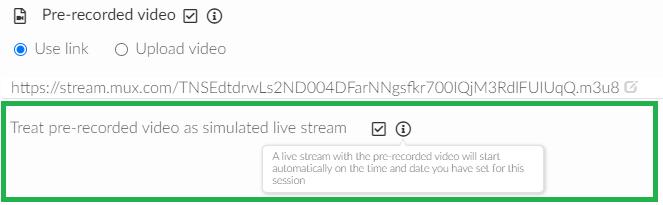 screenshot agenda > activity> pre- recorded video
