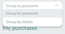 Screenshot of the group tickets section.