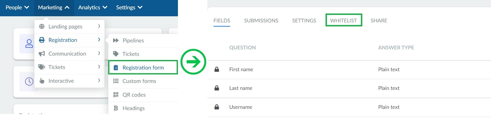How to add whitelisted domains