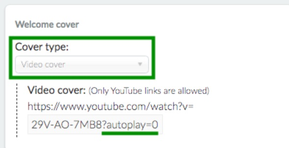 Autoplay option for the welcome card