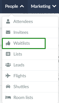People > waitlist > add person > accept/reject invitees