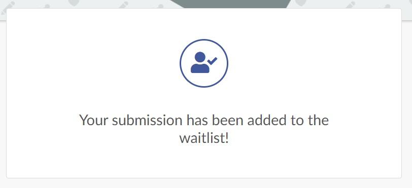Message - waitlist