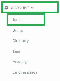 screenshot account > tools