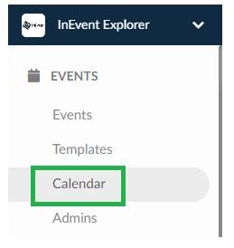 Events > Calendar