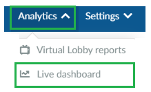 Analytics > Live dashboard