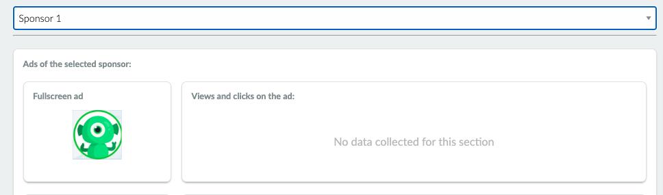 Sponsor ad statistics image