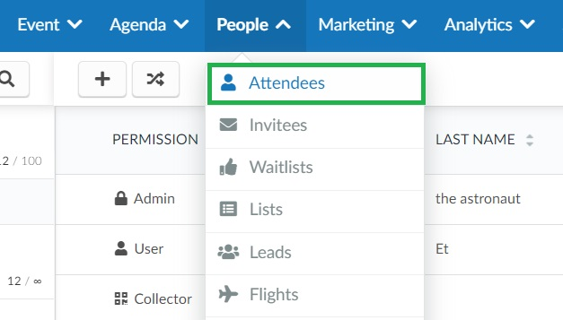 How to add event admins