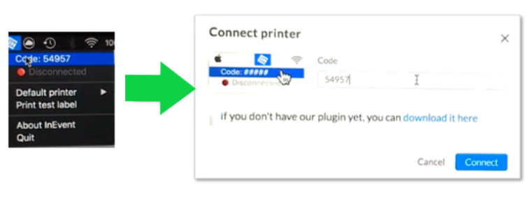 Connect printer.