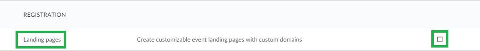 Screenshot settings > tools > lading page