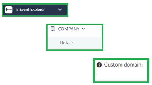 Screenshot company > details > custom domain