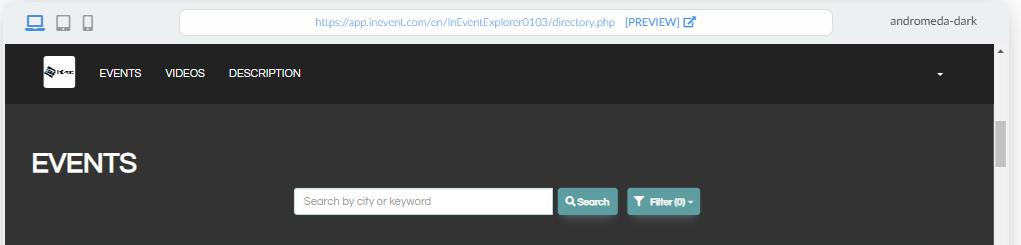 Screenshot directory > events