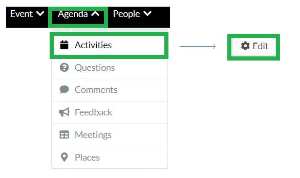 Event > Activities > Edit