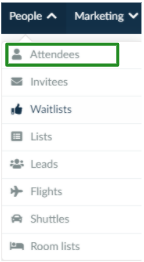 Screenshot of the steps People > Attendees.