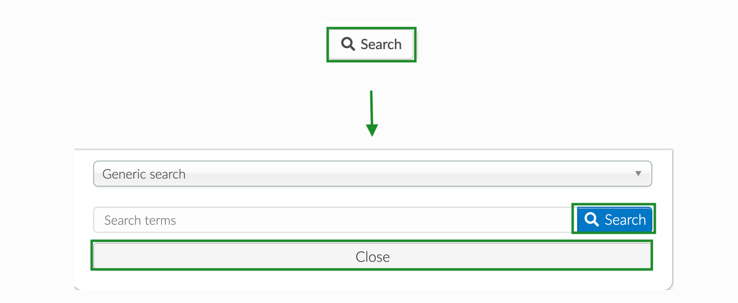 screenshot of how to search for an attendee