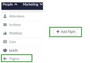 Screenshot of People > Flights > +Add flight.