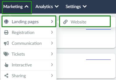 Marketing > Landing page > website