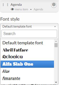 website > font styles