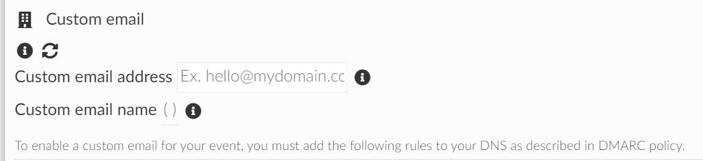 Screenshot of custom email