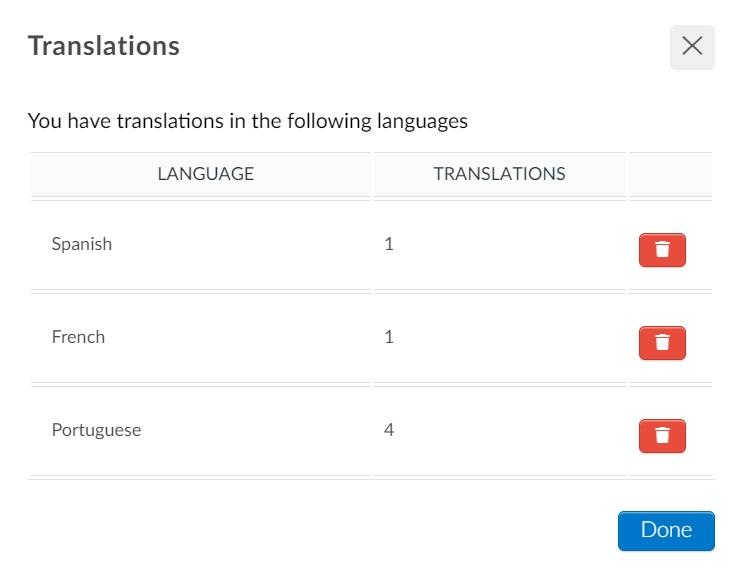 Screenshot translations