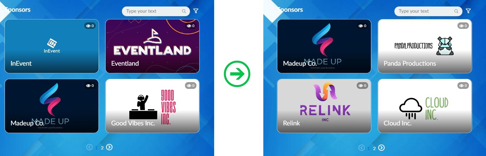 Random sponsors