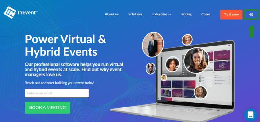 Screenshot of the InEvent website