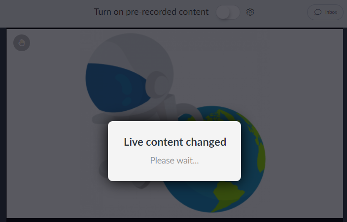 Live content changed message