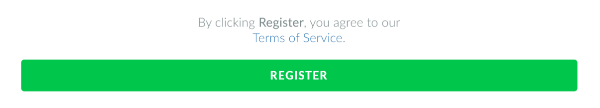 Screenshot of the register button on the registration form.