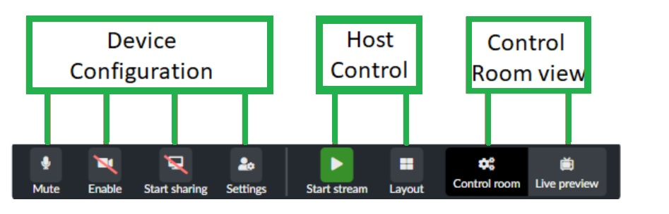 Device configuration for room hosts