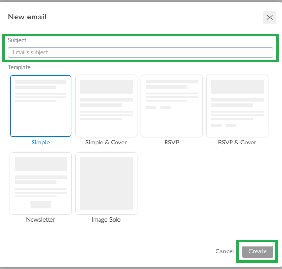 Screenshot +new email