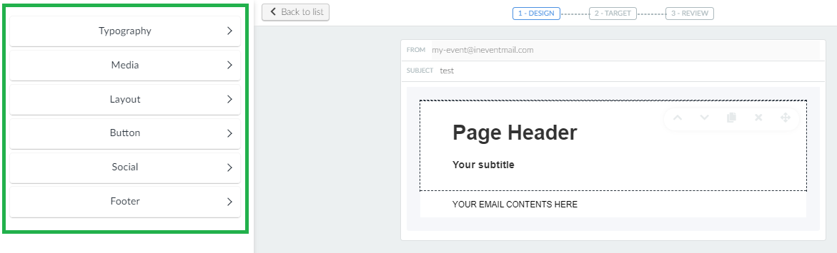 Screenshot + new email first step