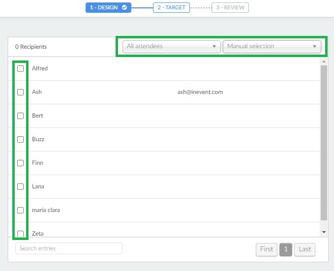 Screenshot target > manual selection