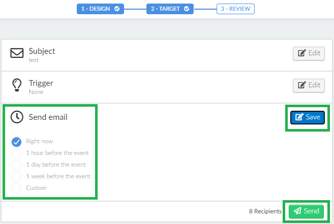 Screenshot send email > send