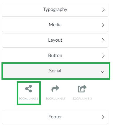 Screenshot social > social links 1