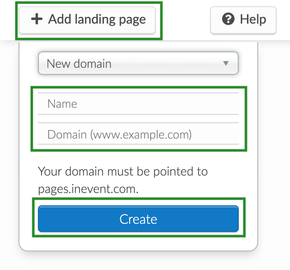 Screenshot of the steps to add a new page