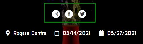 screenshot of social media icons