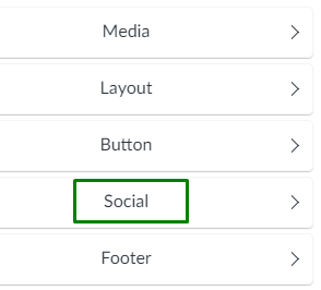 screenshot of email > social