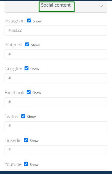 screenshot of social content