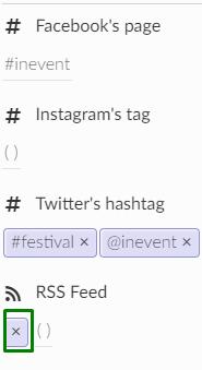screenshot of event > details > social media