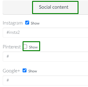 screenshot of email > social content