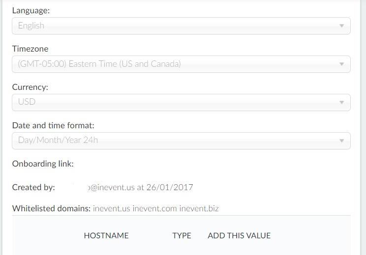 Screenshot of company options